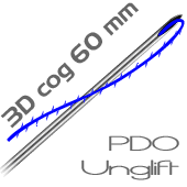 UNGLIFT PDO - -  60 mm 3D cog tracci�n pack 10 hilos